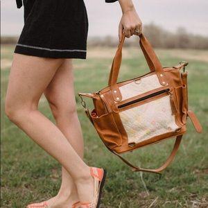Huipil & Leather Convertible Day Bag CDB Not Nena!